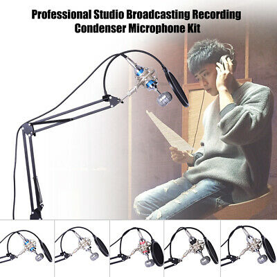 Professional Studio Broadcasting Recording Condenser Microphone Mic Kit Set U3D3