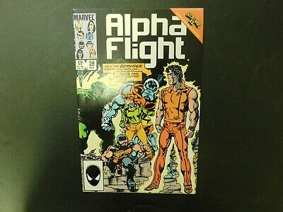 Vintage Marvel comics Alpha Flight #28 1985 comic book collectible FREE SHIPPING