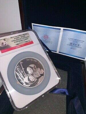 2013 China Medal 5 oz Silver Panda, Long Beach Coin Expo, NGC PF69 Ultra Cameo