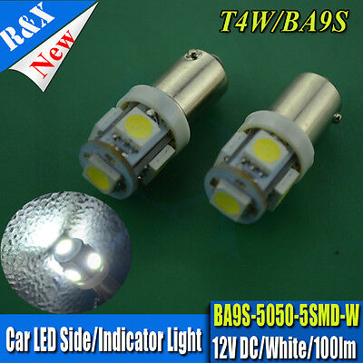 4 x BA9S Bayonet White 5 5050 LED Car Interior Light Parker Dome Map Lamp Globe