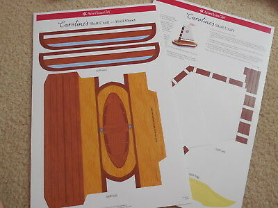 American Girl Doll Caroline's Skiff Craft AG store exclusive new no stickers