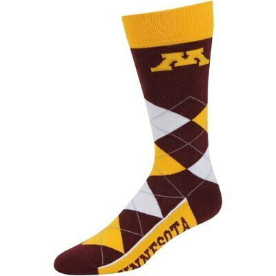 brand new 48731 c5c93 Minnesota Golden Gophers For Bare Feet Argyle Crew Socks