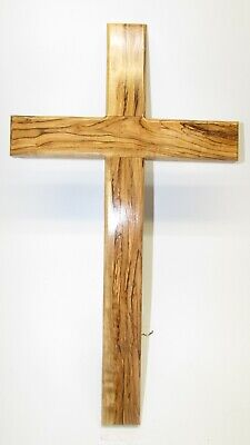 "Very Large 20"" Olive Wood Wall Cross - Hand Made in Jerusalem - New Product!"