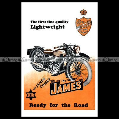 #phpb.001266 Photo JAMES COMET 150 COMET D16 1932 A4 Poster Reprint