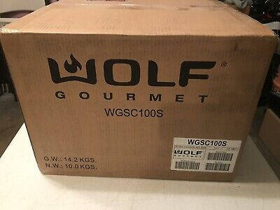 Wolf Gourmet WGSC100S, Multi-function Cooker (Slow Cooker) Red Knob - NEW