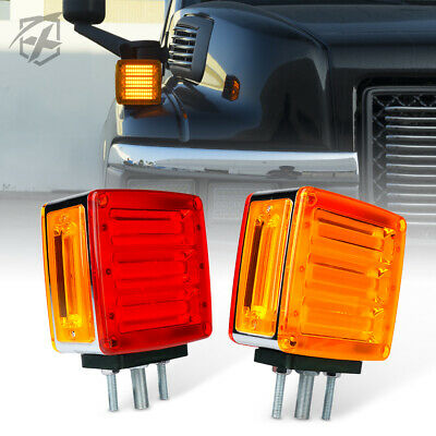 Xprite Pillar Series IP65 LED Dual Face Truck Fender Pedestal Marker Lights