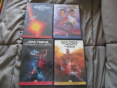 Star Trek DVD 2,3,4,6 Khan, Search For Spock, Voyage Home, Undiscovered Country