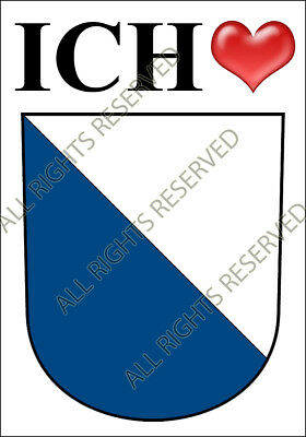 SCHWYZ SWITZERLAND BLASON BLAZON HERALDRY STICKER AUTOCOLLANT PVC 1