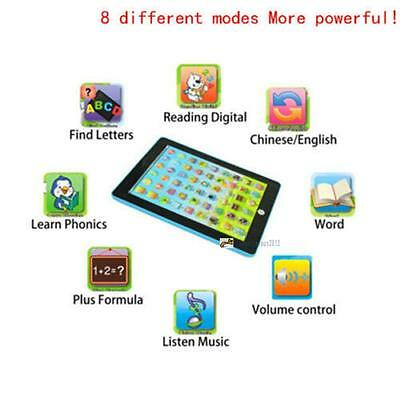 2017 Kids Baby Learning English Tablet Teach Pad Educational Toy Fun Gift B UP
