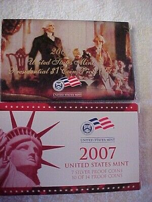 2007 United States Mint Silver Proof Set  - V70 - Minted in San Francisco