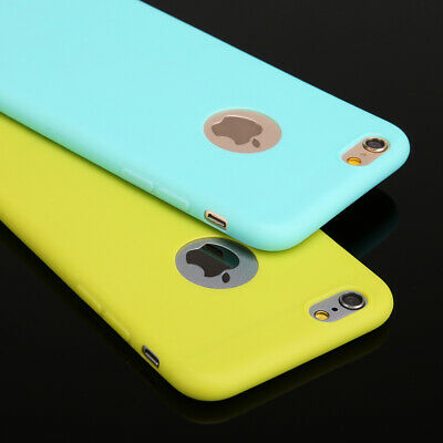 Candy Color Soft Silicone Case Cover for iPhone 6 6s 7 Plus 5s SE X XS Max XR