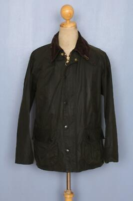 BARBOUR Bedale Waxed Jacket Green Size 38 Medium