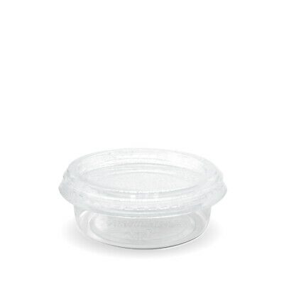 50x Sauce Cup with Lid 60mL Eco Clear Plastic Portion Container Dip Condiment