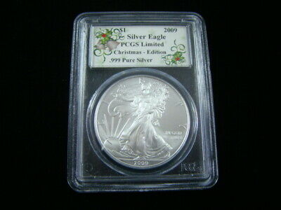 2009 American Eagle Silver Dollar PCGS Limited Christmas Edition Very Nice!!