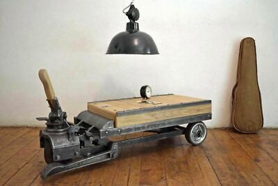 Rollpalette Lost Places Loft Tisch Couchtisch rollbar Alt Steampunk Table Antik