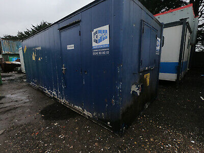 20ft x 8ft SITE CABIN SITE OFFICE PORTABLE BUILDING ANTI VANDAL £750 + VAT OFFER