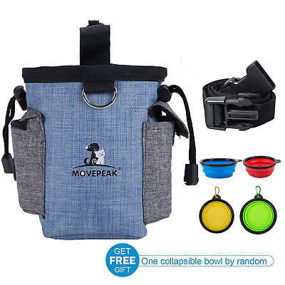 MOVEPEAK Dog Treat Pouch Bag for Training - Easy Storage Food,Snack,Toys for Pet