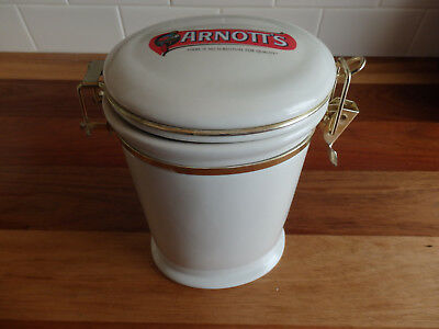 Collectable Arnott's Ceramic Biscuit Tin/Cookie Jar.