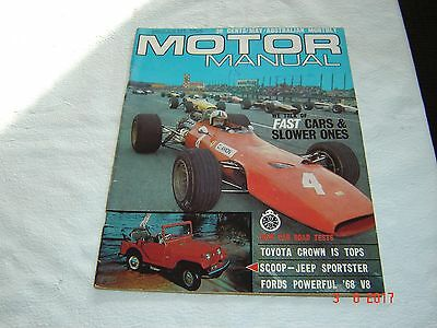 Australian Monthly Motor Manual Magazine May 1968