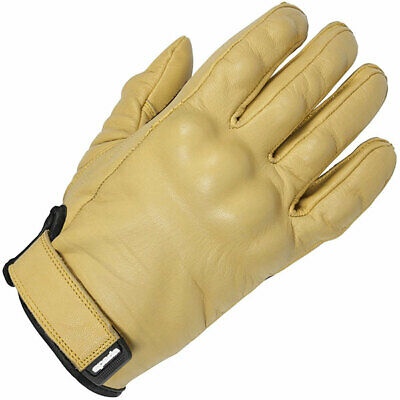 SPADA WYATT LEATHER MOTORCYCLE GLOVES TAN new armoured knuckle scooter