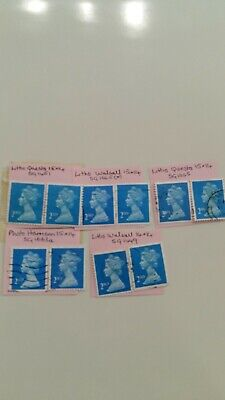 Used Franked 2nd Class Security GB Postage Stamps No Unfranked