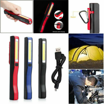 Rechargeable COB LED Hand Torch Lamp Magnetic Inspection Work Lights Flexible UK