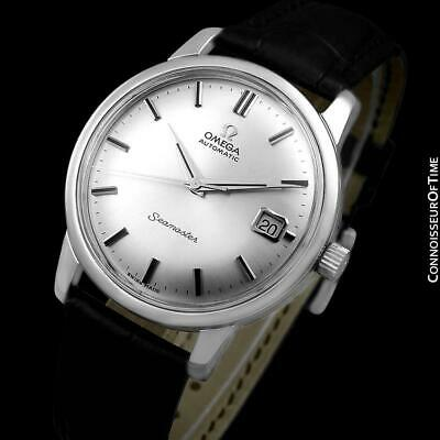 1966 OMEGA SEAMASTER Mens Vintage Large Stainless Steel Watch - Mint w/ Warranty