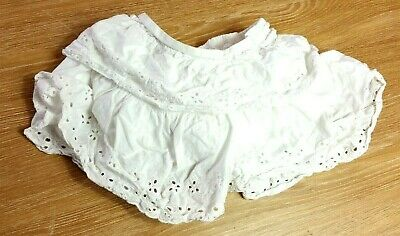 GEORGE Baby GIRLS SKIRT Age 12-18 Months White Embroidered Ruffle