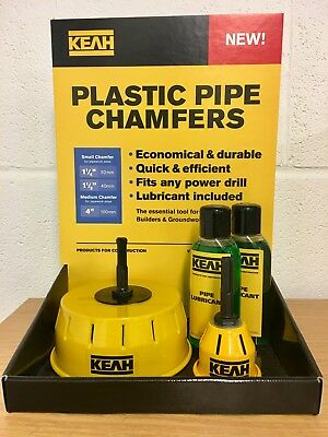 2 x Pipe Chamfering Tool for 110mm Soil Pipe & 32/40mmn push fit pipes