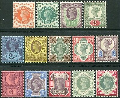 1887-1900 Jubilee Issue Sg 197-Sg 214 Very Fine Used/Fine Used Single Stamps