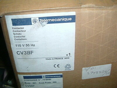 Telemecanique Cv3Bf Contactor 110V Bar Mounted Type.................. New Boxed