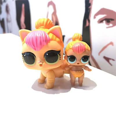 2X LOL Surprise Pets Doll Animals Neon Cosplay Kitten Cat+Lil Sister Neon Q.T.