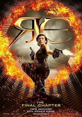 Resident Evil Final Chapter - A4 Glossy Poster - Film Movie Free Shipping #242