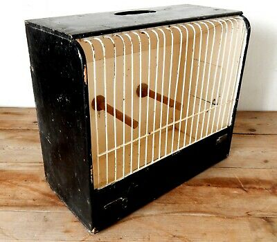 Vintage Wooden Song Bird Cage Cage Finch Canary Decorative Shabby Shic #2
