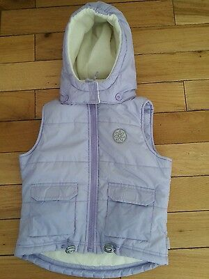 Girls Adams Lilac Hooded Gillet Bodywarmer Jacket 5-6 Years