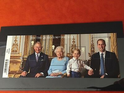 2016 Royal Mail GB- 90th Birthday of HM Queen Elizabeth MINI SHEET 4x 1st Stamps