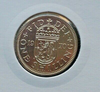 1970 Proof Scottish Shilling 1/- coin Never circulated, untouched. Last Minted