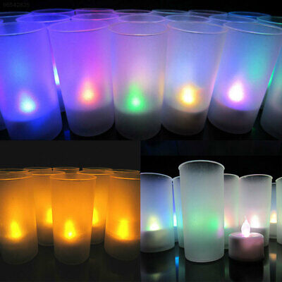 53FA Yellow/Colorful Electronic Candle Home Room Party Supply Decoration Gifts