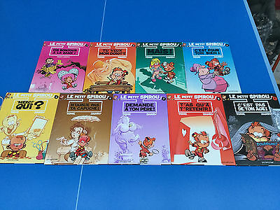 The Small Spirou Lot of 10 First Tomes Tbe Comics Bande-Dessinée (Comic Book)