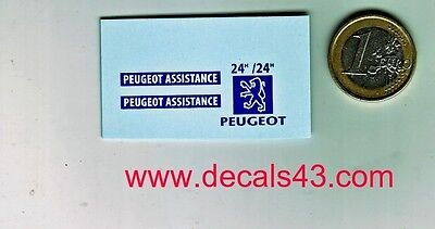 decals decalcomanie deco peugeot assistance pour 205 1/43
