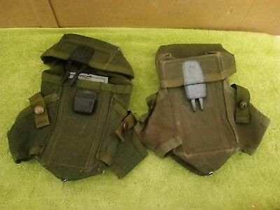 2 US Military Army OD Ammo Pouch Case 3 Magazine Pouches  ARMY SURPLUS