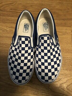 b7d0471678 VINTAGE VANS SLIP ON with LACE made in USA size 6 Skate Shoes ...