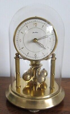 BENTIMA / KERN 400 DAY ANNIVERSARY CLOCK WITH GLASS DOME - Good Working Order