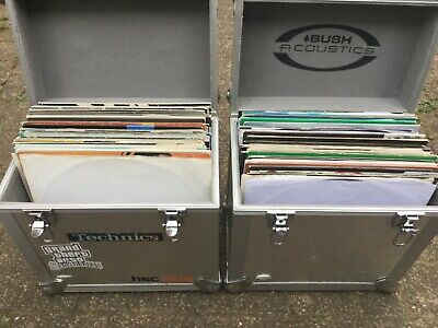 Dance vinyl record collection (108 individual records) + x2 Flight cases