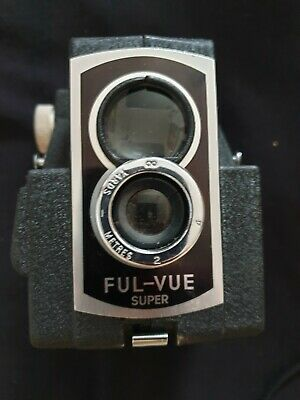 Ross Ensign Ful-vue Super Camera With Leather Case & flash unit