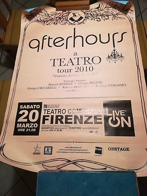 Afterhours Manifesto Originale Tour 2010 + Vari Promo Manuel Agnelli No Lp Cd 7""