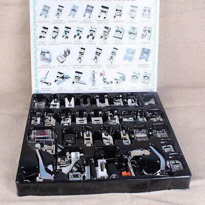 02BE 32PCS Domestic Sewing Machine Foot Presser Feet Set for Brother Singer