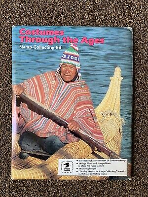 Costumes Through The Ages Stamp Album Collecting Kit Never Opened