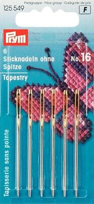 26 Prym Embroidery Tapestry Needles Size No 125562