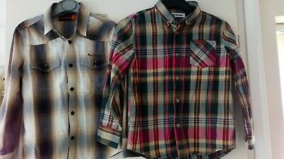 Ben Sherman Boys Mod Shirts X 2. Age 5 - 6 Years Cotton Long Sleeved Checks